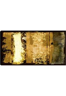 Quadro Abstrato Marrom 55X100Cm