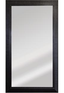 Espelho Retangular Moldura De Madeira Tabaco Esmeralda 110X63Cm