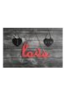 Painel Adesivo De Parede - Love - Amor - 702Pnp