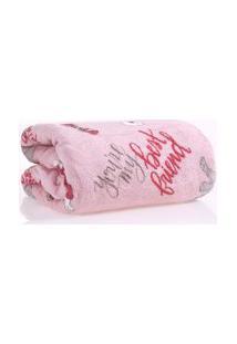 Manta Cobertor Pet 1,20M X 1,50M Microfibra Plush Rosa - Meu Pet
