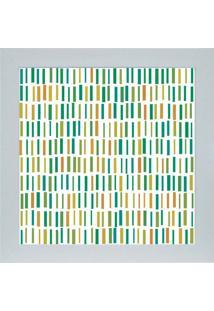 Quadro 65894 Abstrato 33X33 Cm Branco