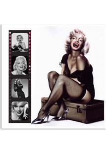 Quadro Marilyn Desenho Uniart Colorido 30X30Cm
