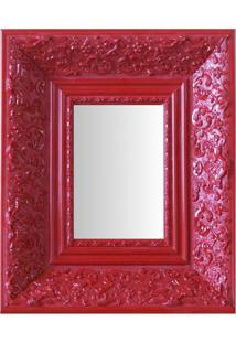 Espelho Moldura Rococó Fundo 16157 Vermelho Art Shop