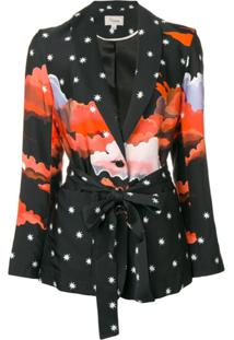 Temperley London Blazer Estampado - Preto