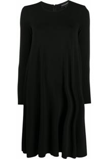Emporio Armani Vestido Reto Com Gola Redonda - Preto