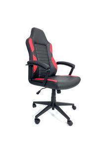 Cadeira Office Byartdesign Gamer Preto E Vermelho