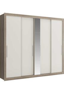 Guarda-Roupa Casal Baco Com Espelho 1073 - Carraro - Anis / Anis Camurça