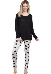 Pijama Inspirate De Inverno Com Legging Poá