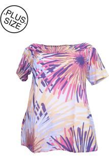 Blusa Plus Size - Confidencial Extra Alongada Estampada