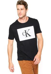 Camiseta Calvin Klein Jeans Reta Preta