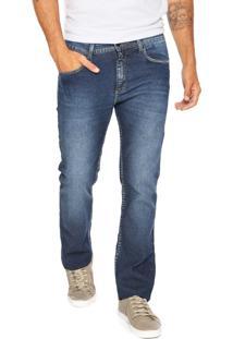 Calça Jeans Calvin Klein Jeans Reta Five Azul