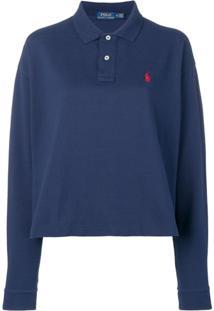8d1f51be0 ... Polo Ralph Lauren Camisa Polo Mangas Longas - Azul