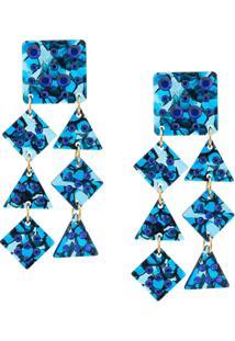 Lele Sadoughi Brinco Com Formas Geométricas - Azul