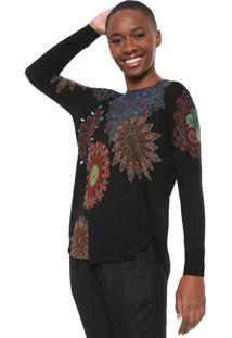 Suéter Desigual Tricot Holly Preto