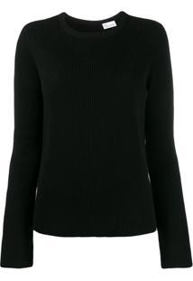 Redvalentino Point D'Esprit Tulle Sweater - Preto