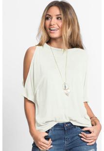 Blusa Com Ombros Vazados Off White