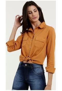 Camisa Feminina Sarja Manga Longa Marisa