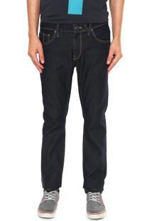 Calça Jeans Volcom Reta Original Azul-Marinho