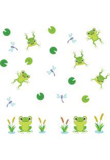 Adesivo De Parede Infantil Sapo Amigo - Verde - Dafiti