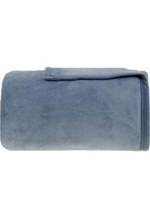 Buddemeyer Cobertor Aspen Solteiro Azul Escuro 160X220Cm
