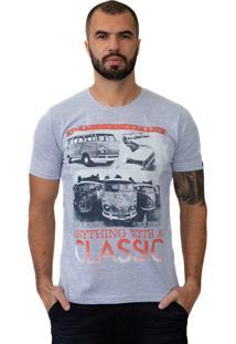 Camiseta Baiki Badhai Classic Kombi Cinza Mescla