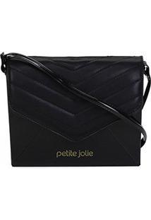 Bolsa Petite Jolie Mini Bag Hello Matelassê Feminina - Feminino-Preto