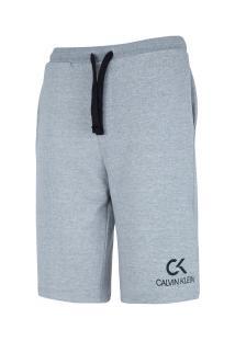 Bermuda Moletinho Calvin Klein Básica - Masculina - Cinza