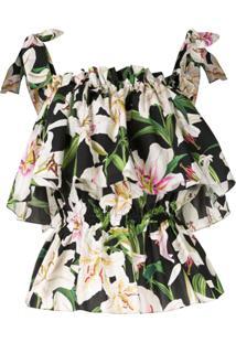 Dolce & Gabbana Blusa Com Estampa De Lírios - Estampado