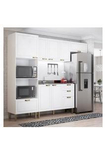 Cozinha Completa 4 Peças Americana Multimóveis 5699 Branco