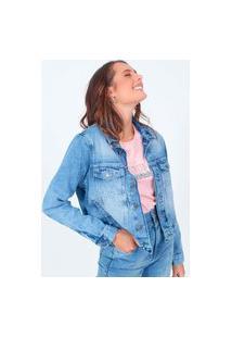 Jaqueta Jeans Basic Azul Claro Pop Me
