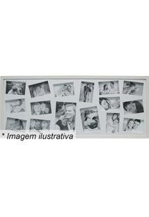Painel Para 16 Fotos- Branco- 43X103X3Cmkapos