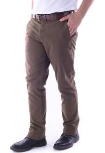 Calça 2839 Sarja Tabaco Traymon Modelagem Regular