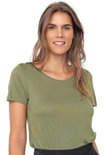 Blusa Cantã£O Bã¡Sica Verde - Verde - Feminino - Viscose - Dafiti