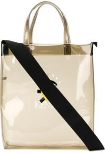 Kenzo Bolsa Tote Transparente Com Logo - Preto