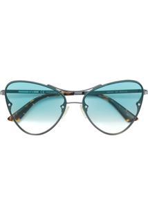 b8bc313fb5c56 Farfetch. Óculos De Sol Queen De Sol Tom Claro Feminino Pbc Alexander  Mcqueen ...