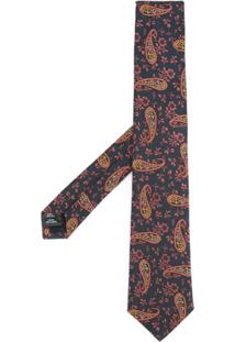 Gieves & Hawkes Gravata Com Estampa Paisley - Azul