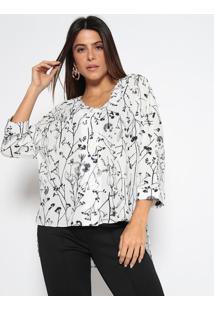 Camisa Texturizada- Branca & Pretaenna