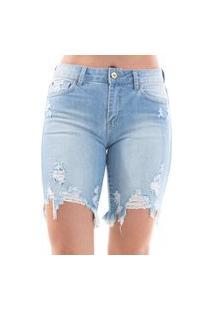Bermuda Its&Co Iara Jeans Claro