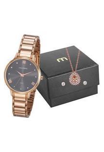 Kit Relógio Feminino Mondaine 32112Lpmvre2K Analógico 5Atm + Brinde | Mondaine | Cinza | U
