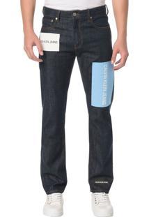 Calça Jeans Five Pocktes Straight Ckj 035 Straight - Marinho - 40