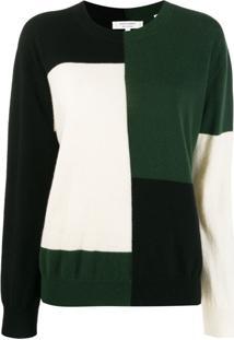 Chinti & Parker Suéter Color Block - Verde