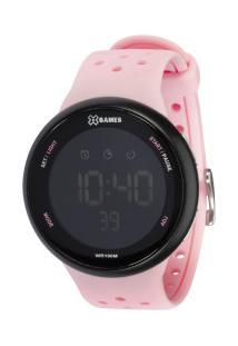 Relógio Digital X Games Xfppd060 - Feminino - Rosa Cla/Preto