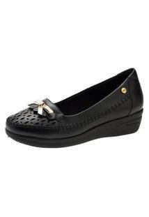 Sapato Anabela Doctor Shoes 7801 Preto