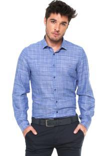 Camisa Aramis Slim Xadrez Azul
