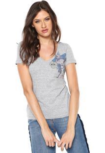 Camiseta Uber Jeans Flamingo Cinza