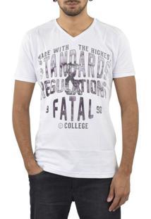 Camiseta Fatal Surf Standards Branca