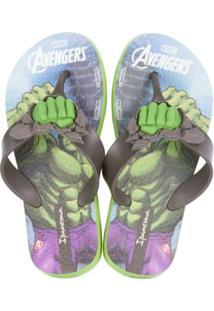 Chinelo Grendene Ipanema Avengers Combat - Masculino-Verde+Azul