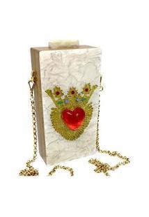 Bolsa La Madame Co Clutch Pop White