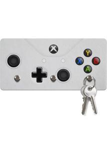 Porta Chaves Ecológico Geek10 Gamer Joystick Abyx Caixista Cinza