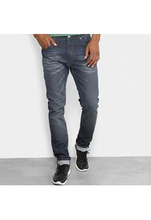 Calça Jeans Slim Forum Alexandre Estonada Masculina - Masculino-Jeans